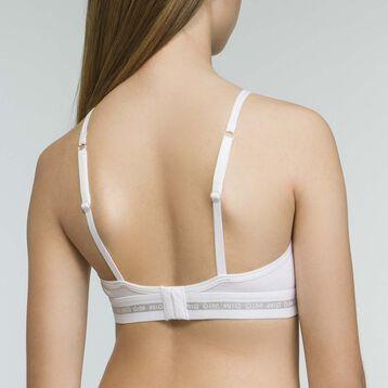 Soutien-Gorge Triangle de Sport Blanc fille en coton stretch Dim Sport , , DIM
