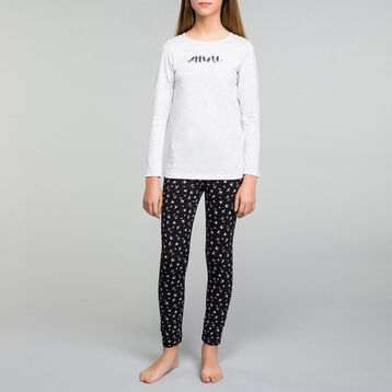 3dd19ba02a Pyjama fille 2 pièces pantalon imprimés oiseaux - Nuit Birds, ...