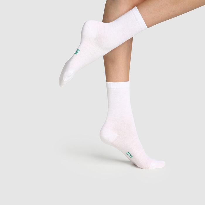 Lot de 2 paires de chaussettes femme en coton bio Blanc Green by Dim, , DIM