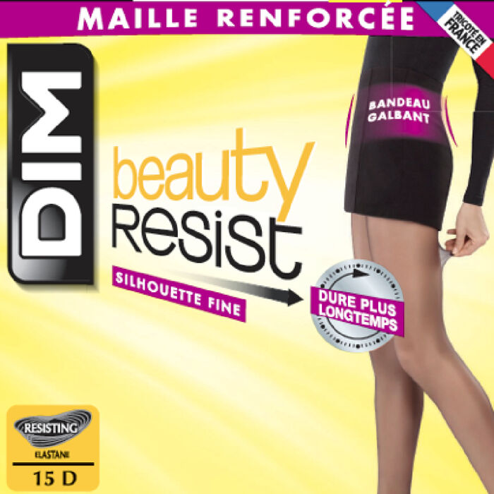 Collant transparent majorque silhouette fine Beauty Resist, , DIM