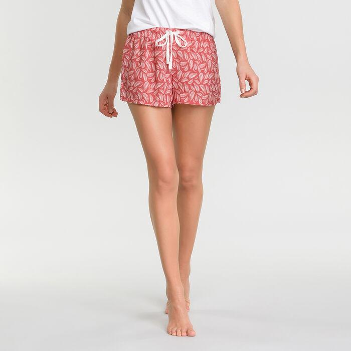 Short pyjama rose à imprimé feuillage - Fashion, , DIM