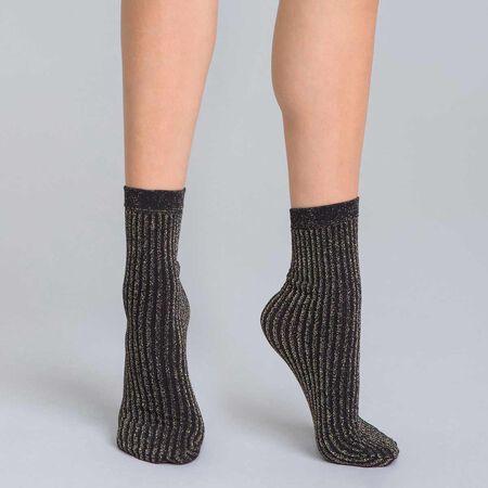 90c8119b982 Socquettes en cottes de mailles lurex or DIM X ba sh