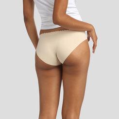 Lot de 2 culottes beige crème et rose porcelaine Body Touch Microfibre, , DIM