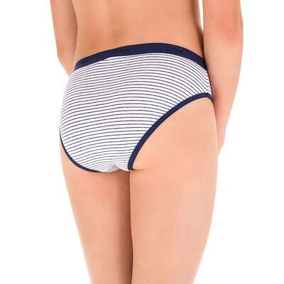 Lot de 3 culottes bleu et imprimé Les Pockets DIM Girl, , DIM