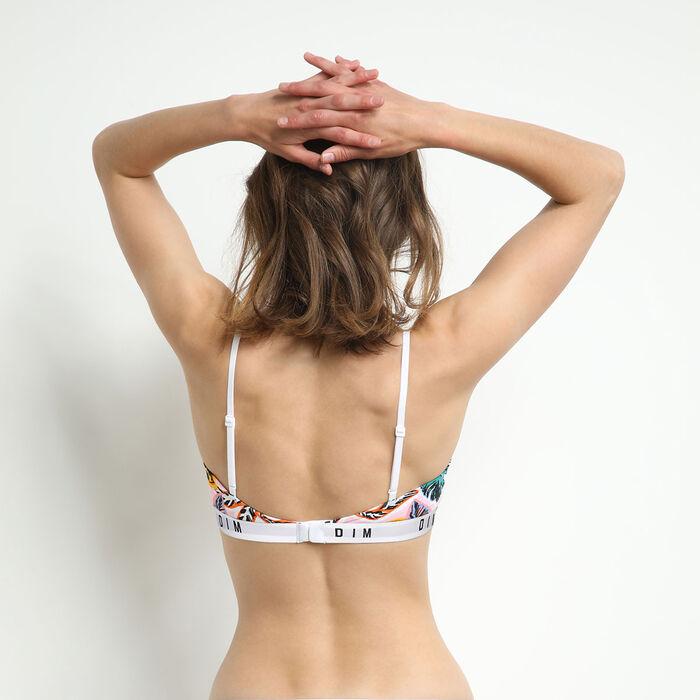 Brassière femme en coton stretch Imprimé Palm Beach Dim Originals, , DIM