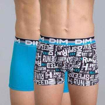Lot de 2 boxers imprimé noir et bleu Eco DIM Boy-DIM