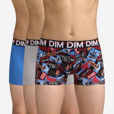 Lot de 3 boxers colorés garçon Dim Boy, , DIM