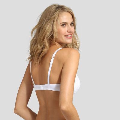 Soutien-gorge foulard push-up blanc Sublim Dentelle recyclée, , DIM