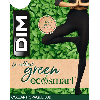 Collant Noir pour femme Bio polyamide recyclé Green by Dim 60 deniers, , DIM