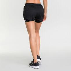 Short de sport femme 2 en 1 impact élevé noir - DIM Sport, , DIM