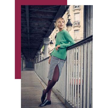 Collant acajou opaque velouté Style 50D-DIM
