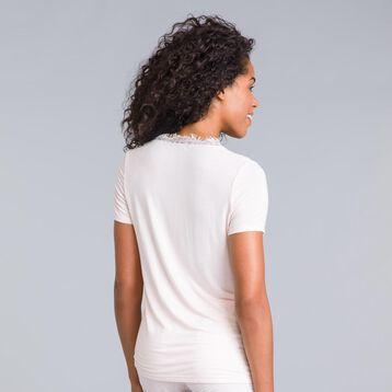 Tee-shirt manches courtes rose Pure Essential-DIM