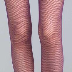 Collant résille violet nocturne 73D Style-DIM