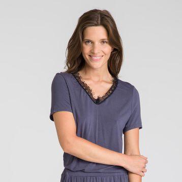 Tee-shirt manches courtes gris Pure Essential-DIM ... bb06336d8bb