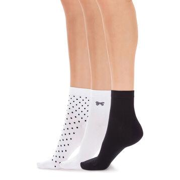 0c75bcffd1e Lot de 3 paires de socquettes motif pois Femme-DIM