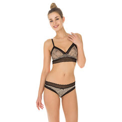 Lot de 2 slips imprimé animal et noir Sexy Fashion coton-DIM