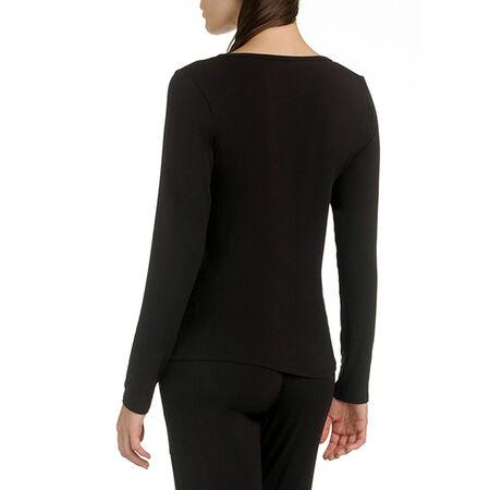 5eb7828d37b63 T-shirt de pyjama manches longues noir en modal Femme. Ref 033D. 15,33 €  21,90 €. Description