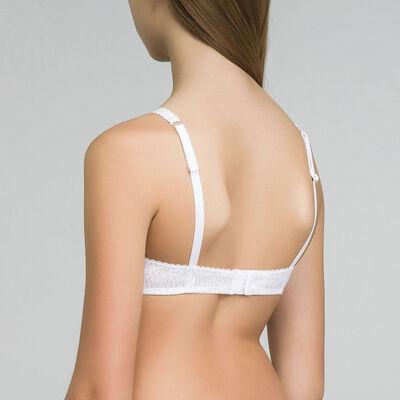 Soutien-gorge triangle imprimé logo blanc DIM Touch Girl, , DIM