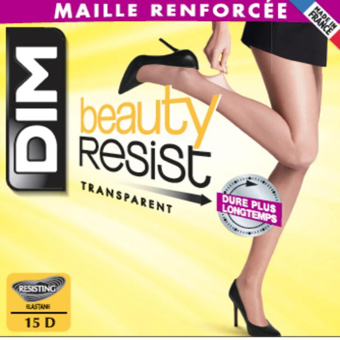 Collant Beauty Resist ambre Transparent 15D, , DIM