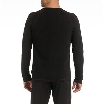 T-shirt de pyjama manches longues noir en coton Homme-DIM
