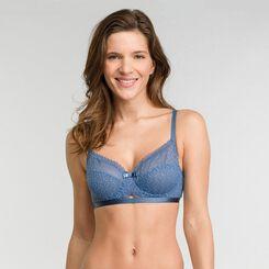 Soutien-gorge corbeille dentelle bleue - Dim Daily Glam Trendy Sexy, , DIM