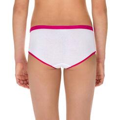 Lot de 2 shortys blanc et rose framboise DIM Girl-DIM