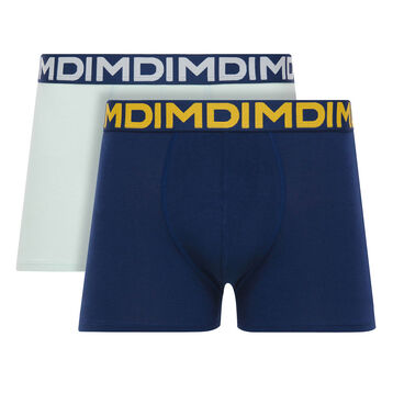 Lot de 2 boxers bleu topaze et bleu marin Mix & Fancy-DIM