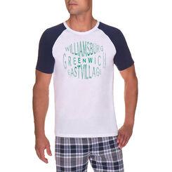 T-shirt de pyjama manches courtes blanc Homme-DIM