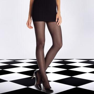 Collant noir DIM SIGNATURE Illusion résille 20D, , DIM