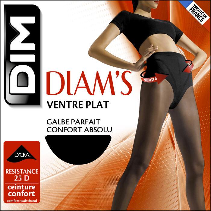 Collant noir Diam's Ventre Plat 25D, , DIM