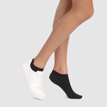 Socquettes en coton respirant noir spécial baskets Opaque de Dim, , DIM