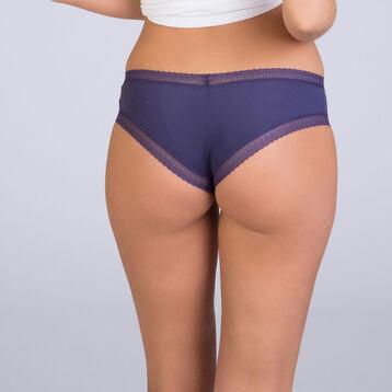 Slip brésilien bleu indigo Table Panties, , DIM