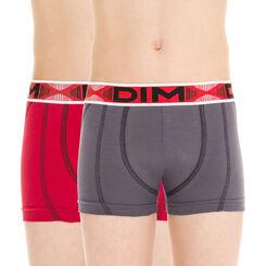 Lot de 2 boxers rouge et gris Stadium DIM Boy-DIM