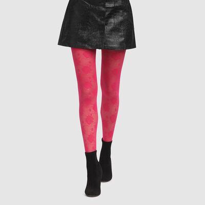 Collant Imprimé rose couture Rose pétillant Style de Dim 20D, , DIM