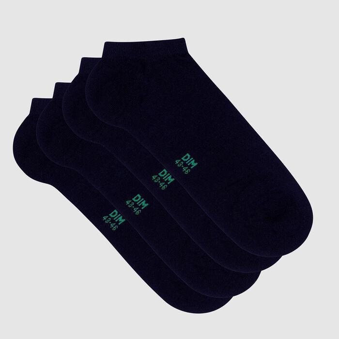 Lot de 2 paires de socquettes homme coton lyocell Marine Green by Dim, , DIM