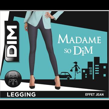 Tregging effet jean Jaune d'or Femme, , DIM