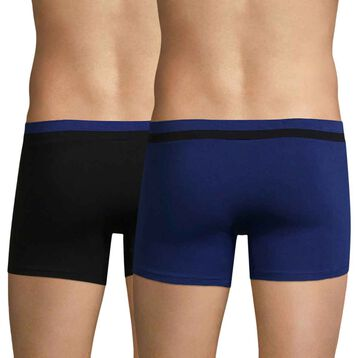 Lot de 2 boxers bleu indigo et noir Soft Touch Pop-DIM