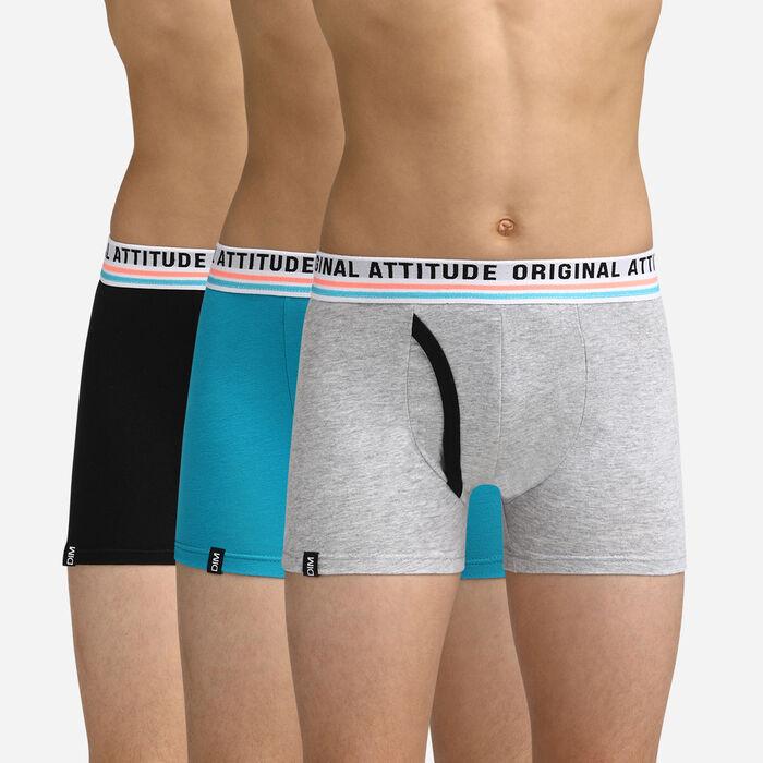 Lot de 3 boxers pour garçon Original attitude DIM Boy, , DIM