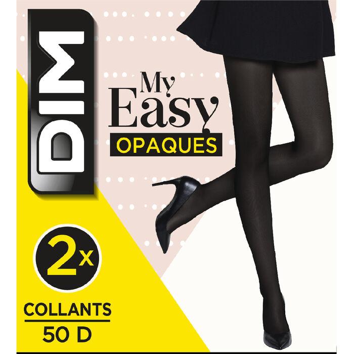 Lot de 2 collants opaques noirs DIM My Easy, , DIM