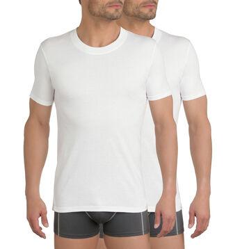 Lot de 3 t-shirts blancs col rond 100% coton EcoDIM-DIM