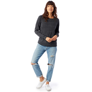 Sweatshirt noir Eco-Jersey™ Femme-DIM