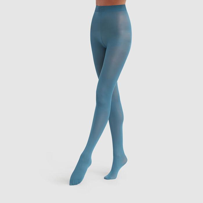 Collant opaque bleu océan Opaque Velouté Dim Style 50D, , DIM