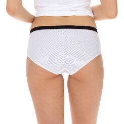 Lot de 2 boxers pois noirs et blancs Les Pockets Microfibre-DIM