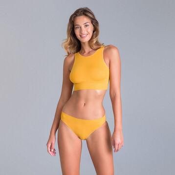 Brassière col haut collection 60 ans jaune-DIM