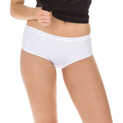 Lot de 2 boxers peau poudrée et blanc Les Pockets Microfibre-DIM