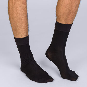 Mi-chaussettes noires Soft Touch Homme-DIM