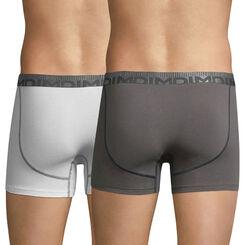 Lot de 2 boxers blanc et gris foncé 3D Flex Morphotech-DIM