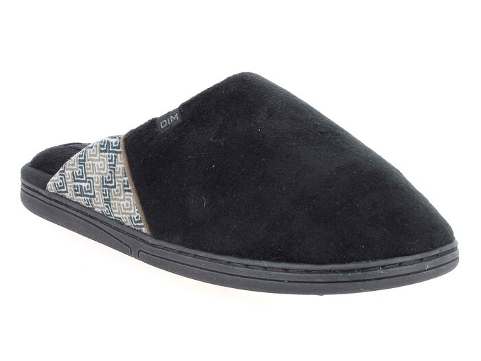 Chaussons type pantoufles noirs Homme-DIM