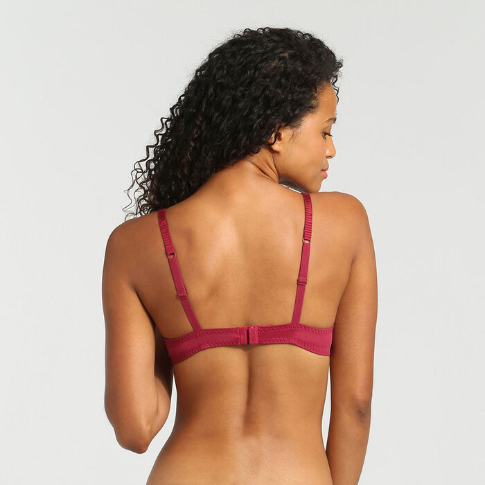 Soutien-gorge foulard push-up rouge vernis Sublim Dentelle de Dim, , DIM