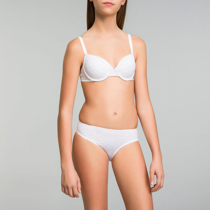 Underwired white bra for girl - Dim Touch, , DIM